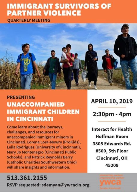 Immigrant Survivors of Partner Violence Quarterly Meeting @ Interact for Health   Cincinnati   Ohio   United States