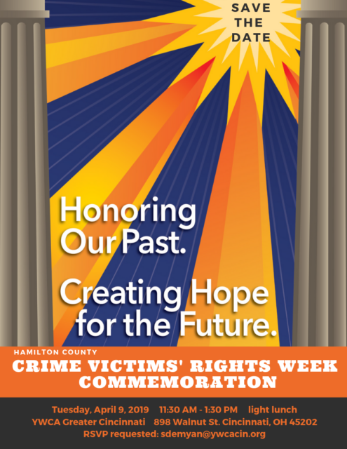 Hamilton County Crime Victims' Rights Week Commemoration @ YWCA Greater Cincinnati | Cincinnati | Ohio | United States