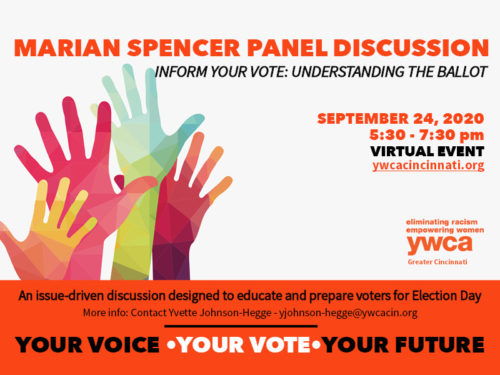 "Marian Spencer Panel Discussion Series ""Understanding the Ballot"" @ Virtual Event"